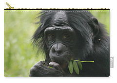 Bonobo Eating Carry-all Pouch by Dan Sproul