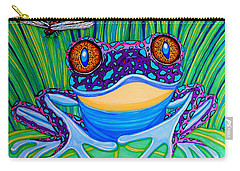 Bright Eyed Frog Carry-all Pouch by Nick Gustafson