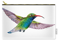 Broad Billed Hummingbird Carry-all Pouch by Amy Kirkpatrick