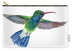 Broadbilled Fan Tail Hummingbird Carry-all Pouch by Amy Kirkpatrick
