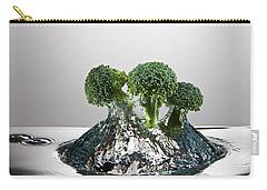 Broccoli Freshsplash Carry-all Pouch by Steve Gadomski