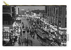 Bronx Fordham Road At Night Carry-all Pouch by Underwood Archives