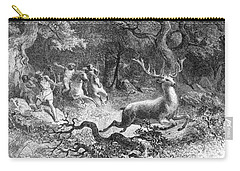 Carry-all Pouch featuring the photograph Bronze Age, Hunting Scene by British Library