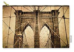 Brooklyn Bridge Nostalgia Carry-all Pouch by Jessica Jenney