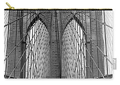 Brooklyn Bridge Promenade Carry-all Pouch by Underwood Archives