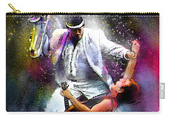 Bruce Springsteen And Clarence Clemons Carry-all Pouch by Miki De Goodaboom