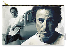 Bruce Springsteen The Boss Artwork 1 Carry-all Pouch by Sheraz A