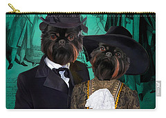Brussels Griffon - Griffon Bruxellois Art Canvas Print Carry-all Pouch by Sandra Sij