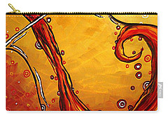 Bubbling Joy Original Madart Painting Carry-all Pouch by Megan Duncanson