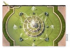 Buckingham Fountain From Above Carry-all Pouch by Adam Romanowicz