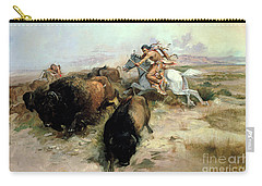 Buffalo Hunt Carry-all Pouch by Charles Marion Russell