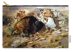Buffalo Hunt Carry-all Pouch by Charles Russell