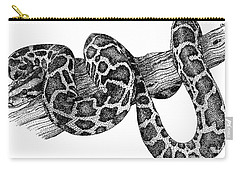 Burmese Python Carry-all Pouch by Roger Hall