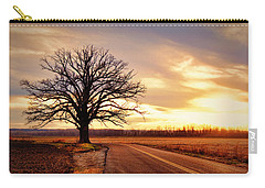 Burr Oak Silhouette Carry-all Pouch by Cricket Hackmann
