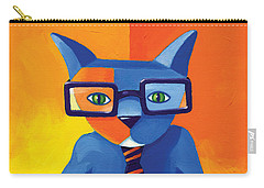 Business Cat Carry-all Pouch by Mike Lawrence
