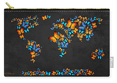 Butterfly Map Carry-all Pouch by Mark Ashkenazi