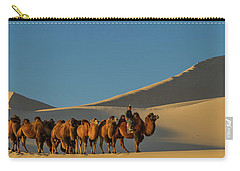 Camel Caravan In A Desert, Gobi Desert Carry-all Pouch by Panoramic Images