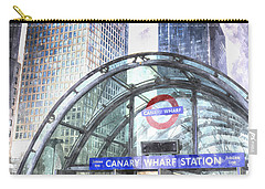 Canary Wharf Station Art Carry-all Pouch by David Pyatt