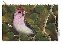 Cassins Finch Carry-all Pouch by Rick Bainbridge
