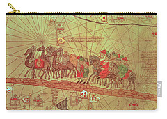 Catalan Atlas, Detail Showing The Family Of Marco Polo 1254-1324 Travelling By Camel Caravan, 1375 Carry-all Pouch by Spanish School