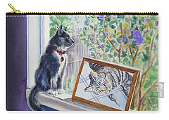 Cats And Mice Sweet Memories Carry-all Pouch by Irina Sztukowski