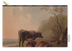 Cattle In An Italianate Landscape Carry-all Pouch by Jacob van Strij