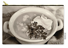 Cauliflower Soup Sepia Tone Carry-all Pouch by Iris Richardson