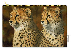 Cheetah Brothers Carry-all Pouch by David Stribbling