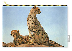 Cheetahs Carry-all Pouch by David Stribbling