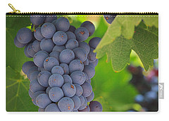 Chelan Blue Grapes Carry-all Pouch by Inge Johnsson