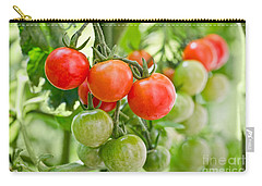 Cherry Tomatoes Carry-all Pouch by Delphimages Photo Creations