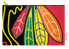 Chicago Blackhawks Carry-all Pouch by Tony Rubino