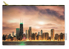 Chicago Gotham City Skyline Panorama Carry-all Pouch by Christopher Arndt