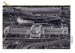 Chicago Icons Bw Carry-all Pouch by Steve Gadomski