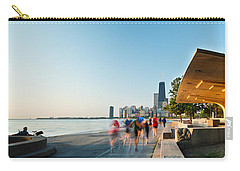 Chicago Lakefront Panorama Carry-all Pouch by Steve Gadomski