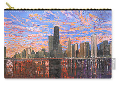 Chicago Skyline - Lake Michigan Carry-all Pouch by Mike Rabe