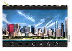 Chicago Skyline Panorama Poster Carry-all Pouch by Christopher Arndt