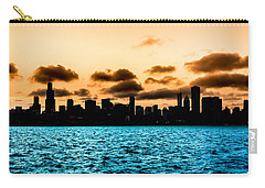 Chicago Skyline Silhouette Carry-all Pouch by Semmick Photo