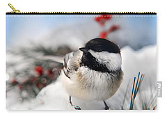 Chilly Chickadee Carry-all Pouch by Christina Rollo