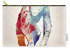 Chimpanzee Drawing - Design Carry-all Pouch by World Art Prints And Designs
