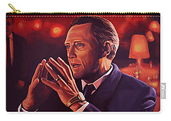 Christopher Walken Painting Carry-all Pouch by Paul Meijering