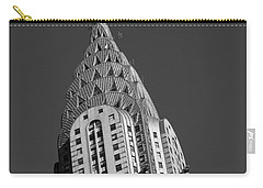 Chrysler Building Bw Carry-all Pouch by Susan Candelario