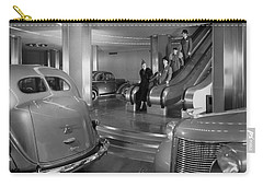 Chrysler Building Car Showroom Carry-all Pouch by Underwood Archives