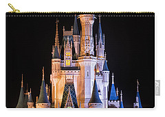 Cinderella's Castle In Magic Kingdom Carry-all Pouch by Adam Romanowicz