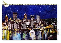 City Of Pittsburgh At The Point Carry-all Pouch by Christopher Shellhammer
