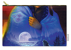 Cloak Of Visions Portrait Carry-all Pouch by Andrew Farley
