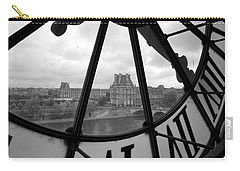 Clock At Musee D'orsay Carry-all Pouch by Chevy Fleet