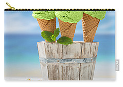 Close Up Ice Creams Carry-all Pouch by Amanda Elwell