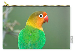 Close-up Of A Fischers Lovebird Carry-all Pouch by Panoramic Images