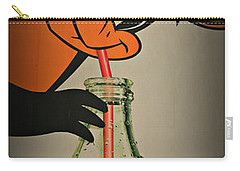 Coca Cola Orioles Sign Carry-all Pouch by Stephen Stookey